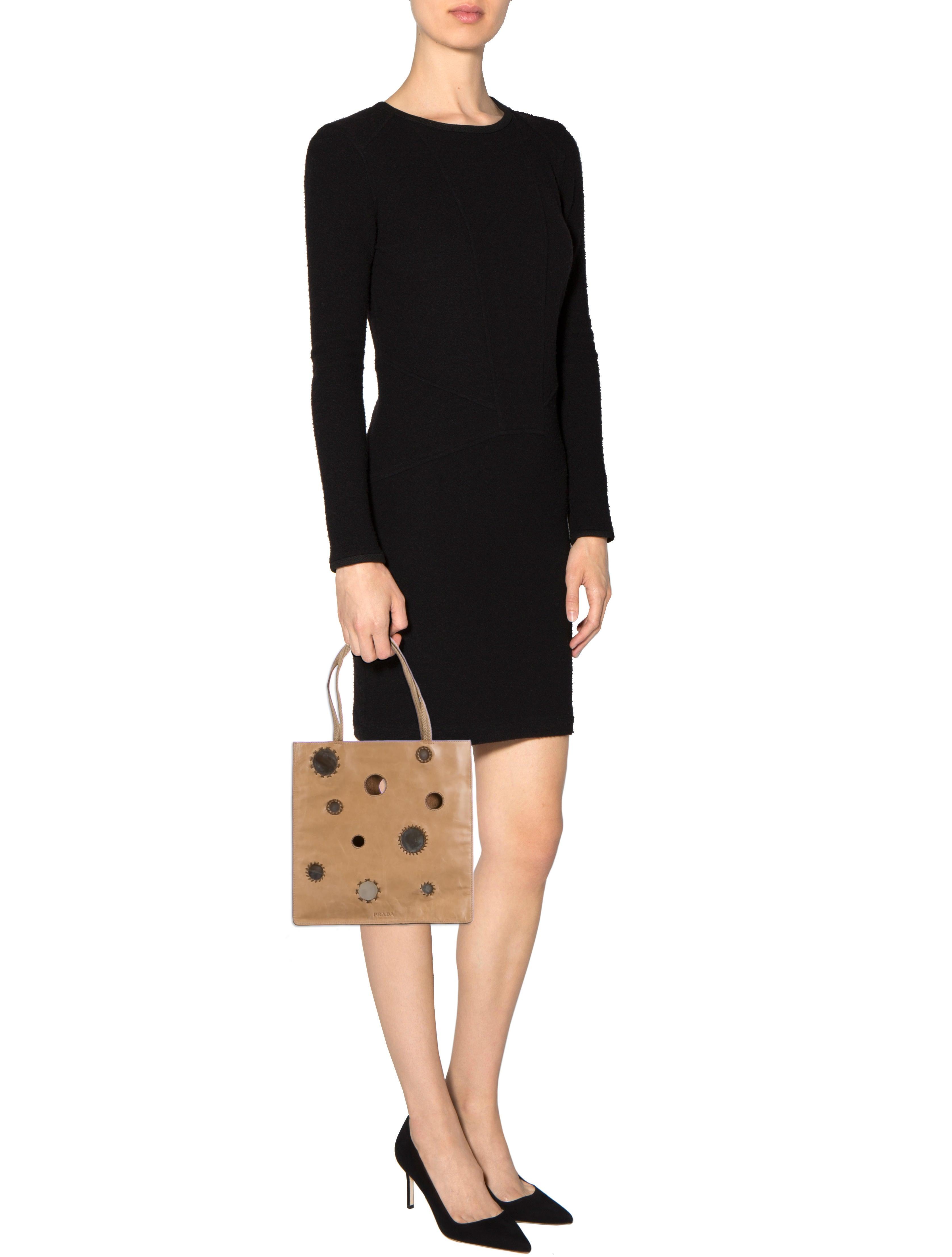 prada vela nylon tote - Prada Leather Reflective Handle Bag - Handbags - PRA83133 | The ...