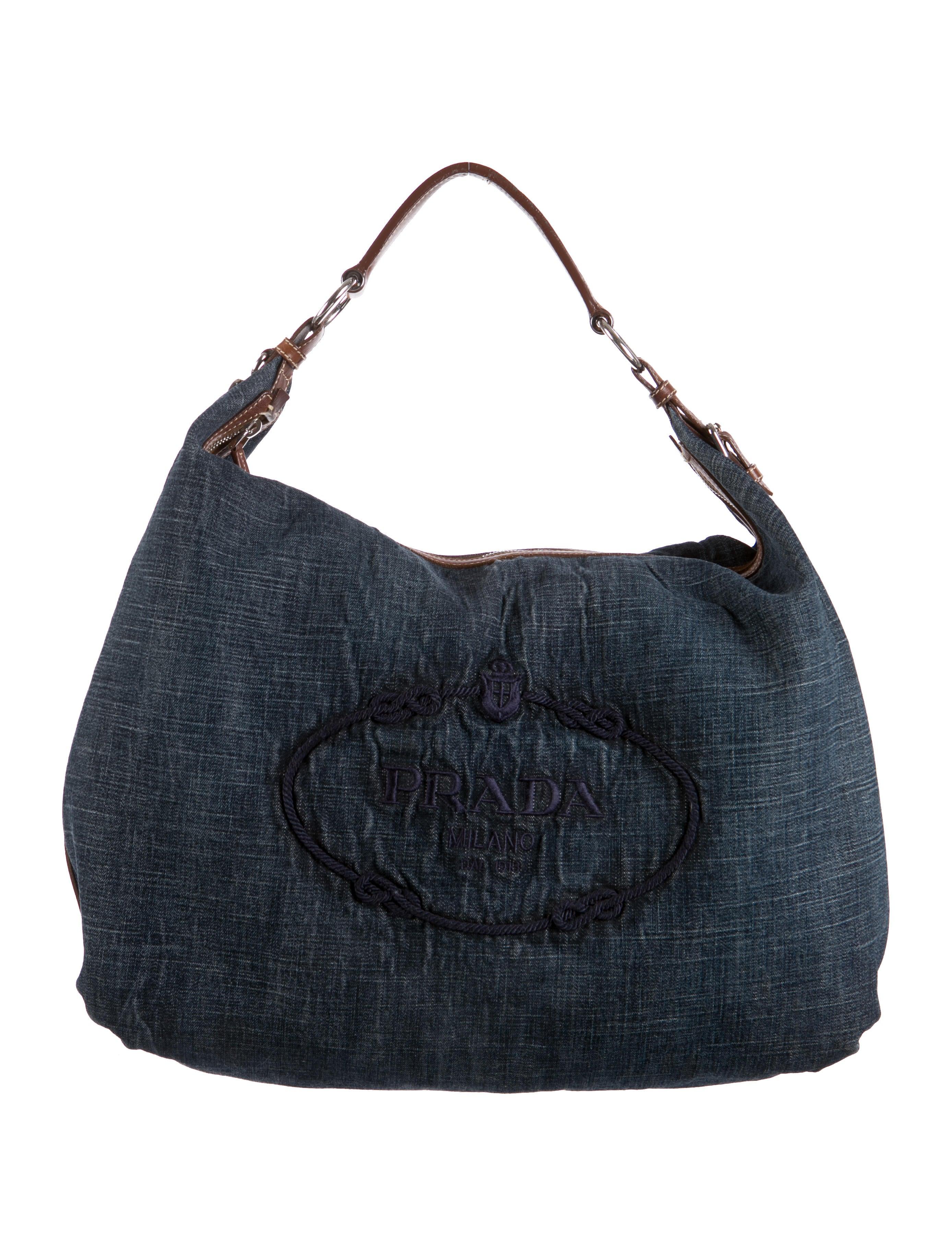 Prada Denim Logo Tote - Handbags - PRA83178 | The RealReal