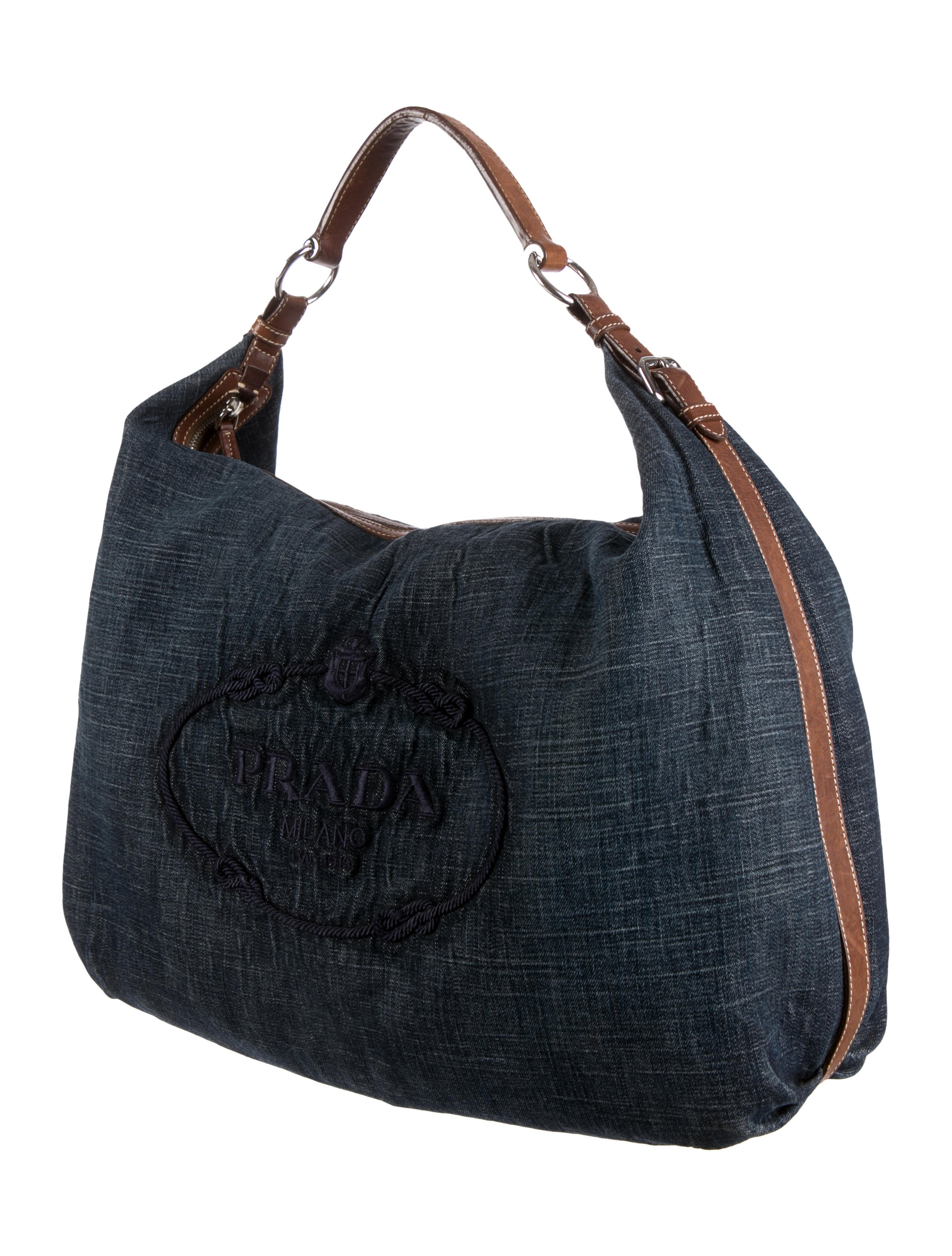 prada messenger bag black nylon - prada denim logo tote, prada leather handbag