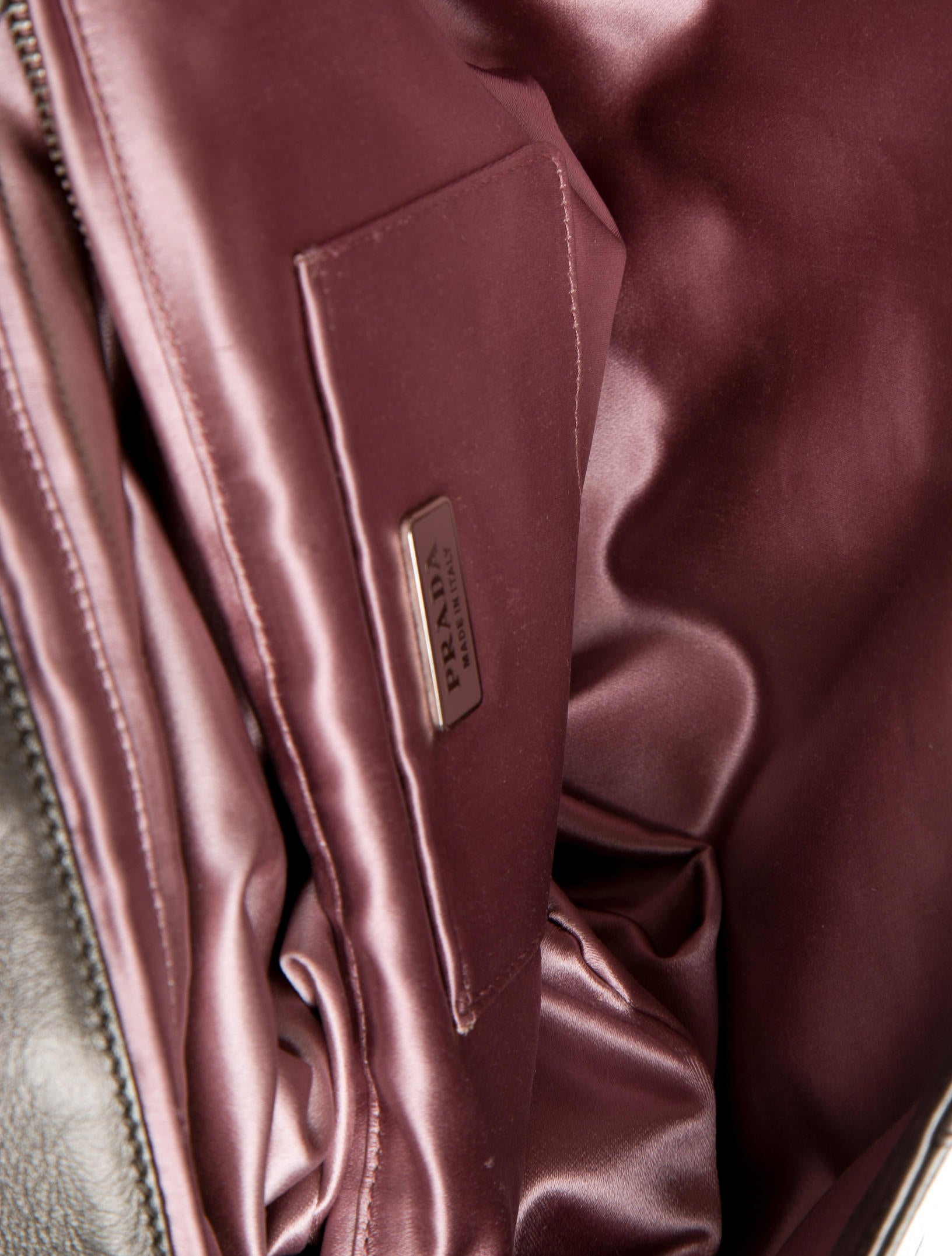 prada inspired bag - Prada Nappa Stripes Large Clutch - Handbags - PRA83445 | The RealReal