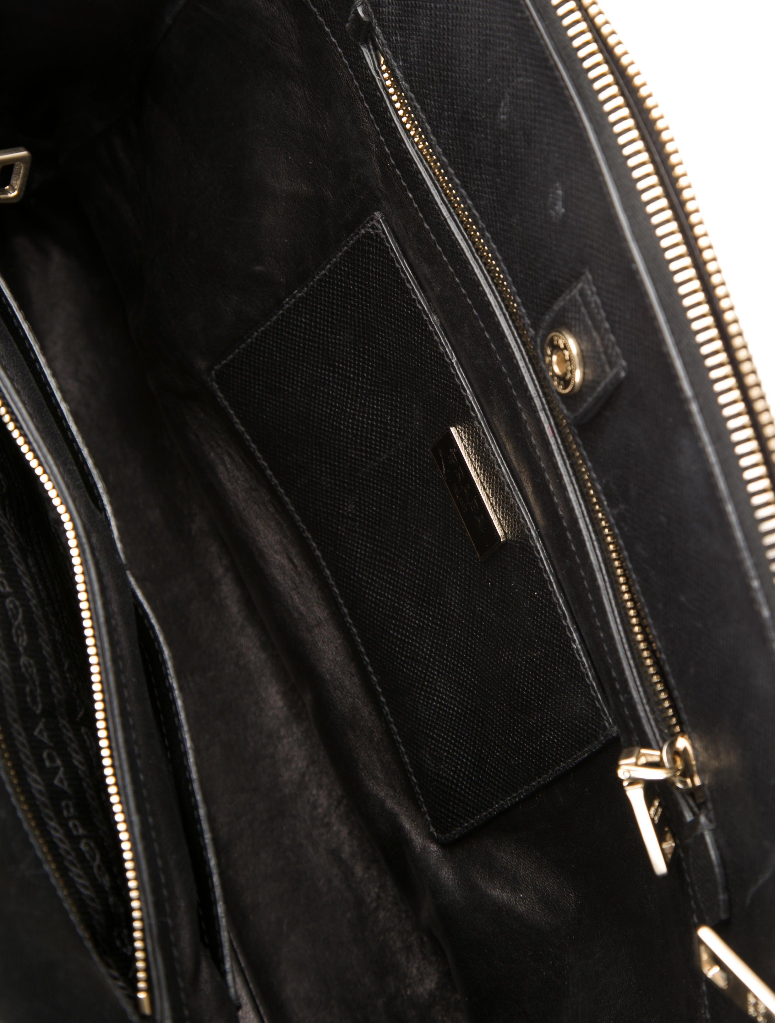 Prada Saffiano Cuir Large Double-Zip Tote - Handbags - PRA83543 ...