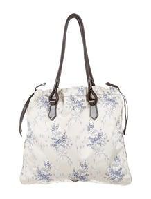Prada Vitello Shine Bauletto Small Zip Satchel - Handbags ...