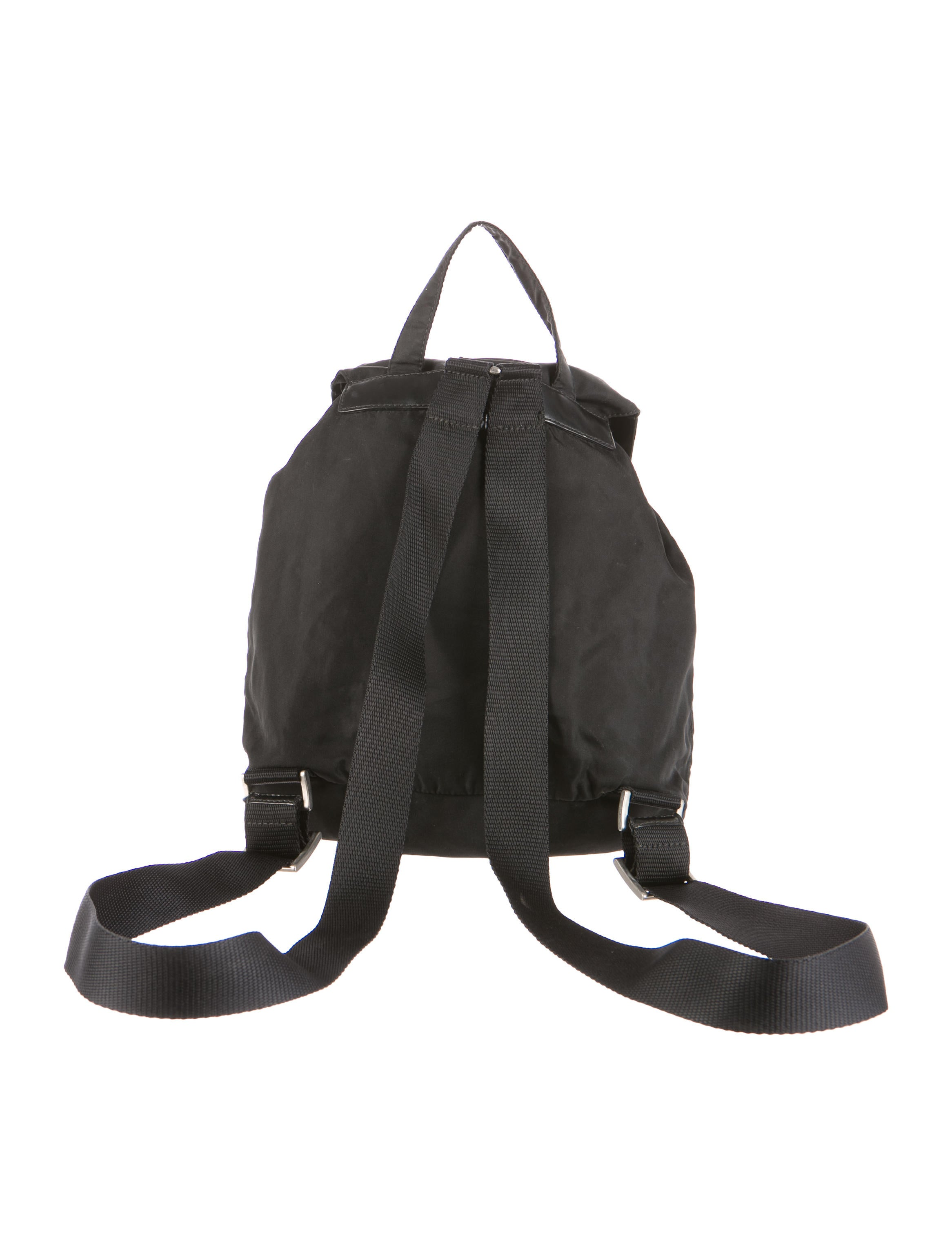 prada shoulder bag - prada leather-trimmed tessuto backpack, brown leather zip around purse