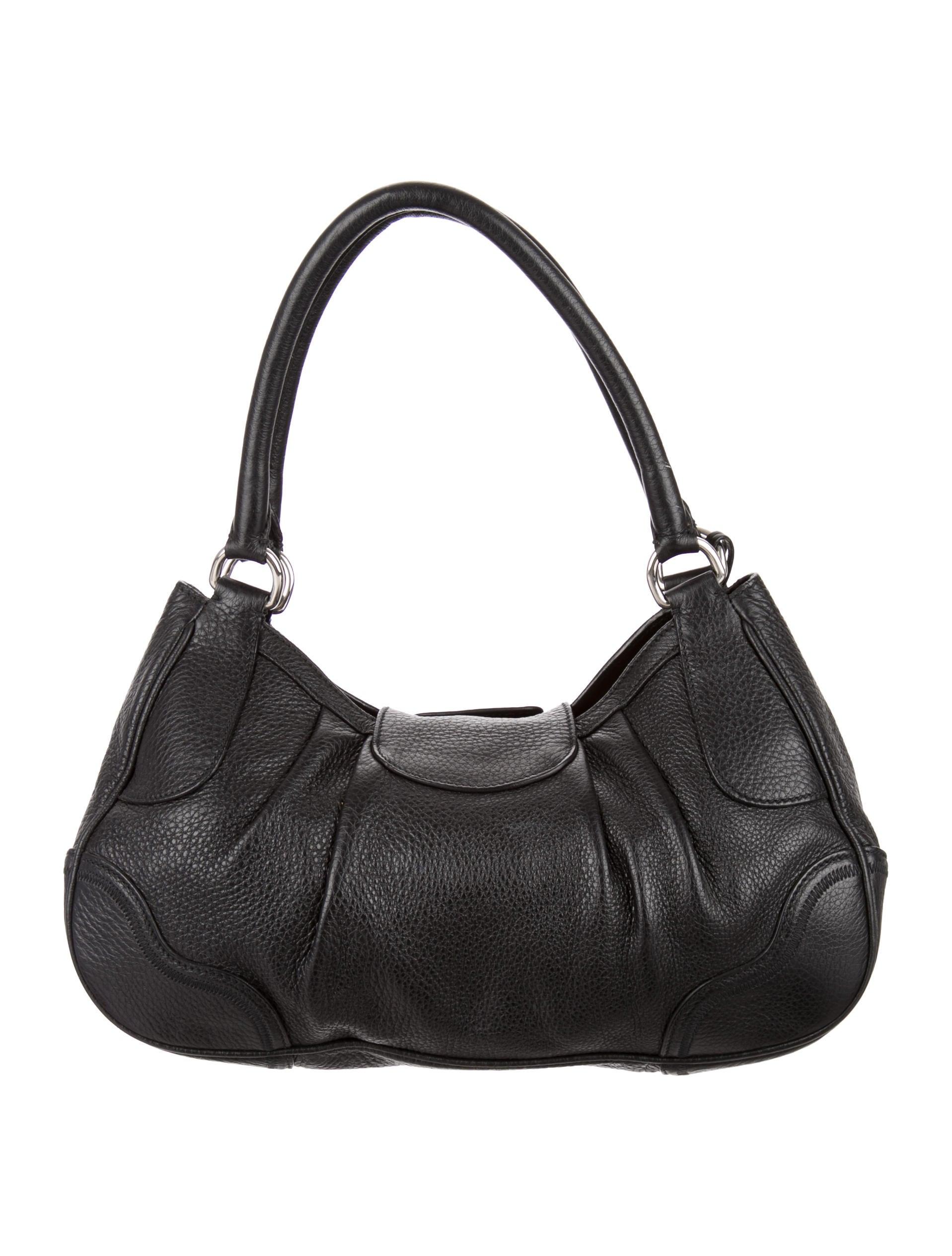 Prada Pebbled Leather Hobo - Handbags - PRA85564 | The RealReal
