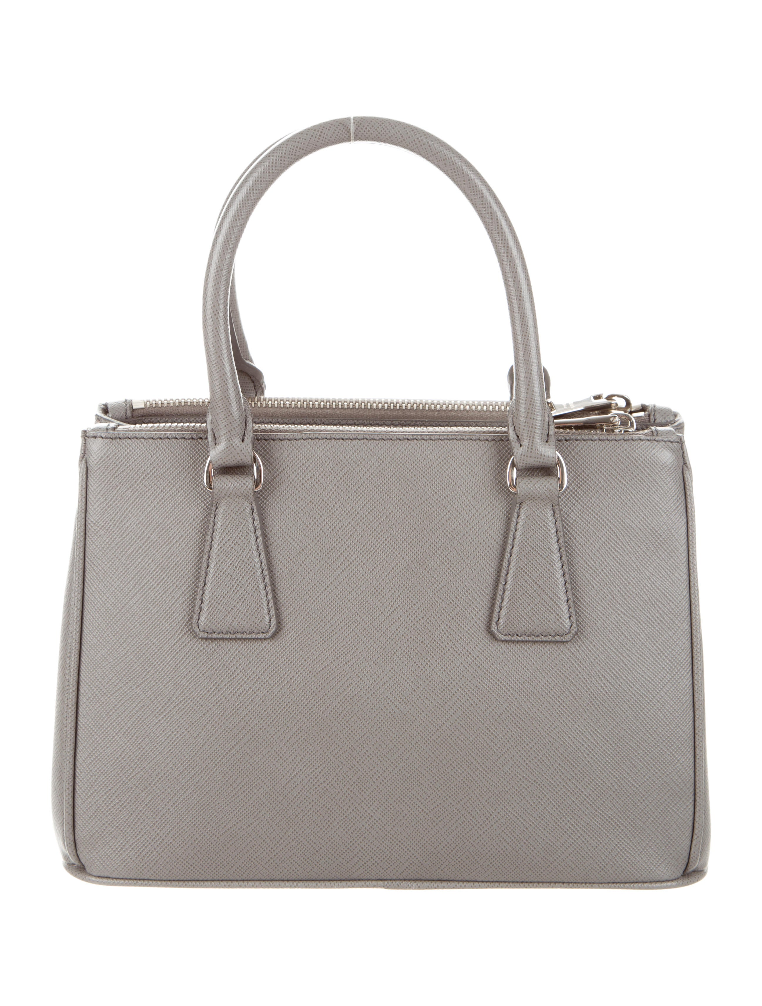 prada mini saffiano leather double-zip tote