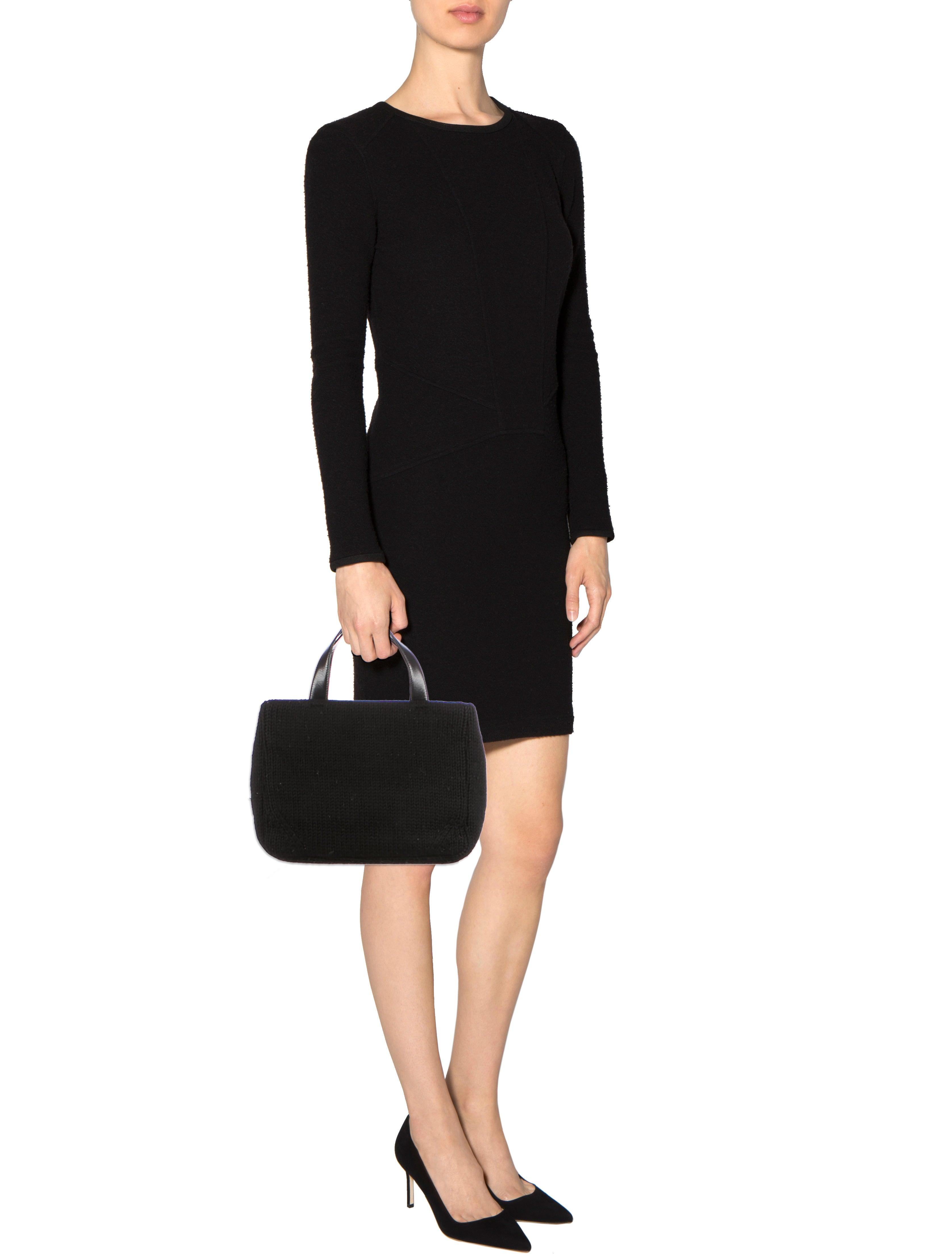 fake mens prada sunglasses - Prada Cable Knit Handle Bag - Handbags - PRA86224 | The RealReal