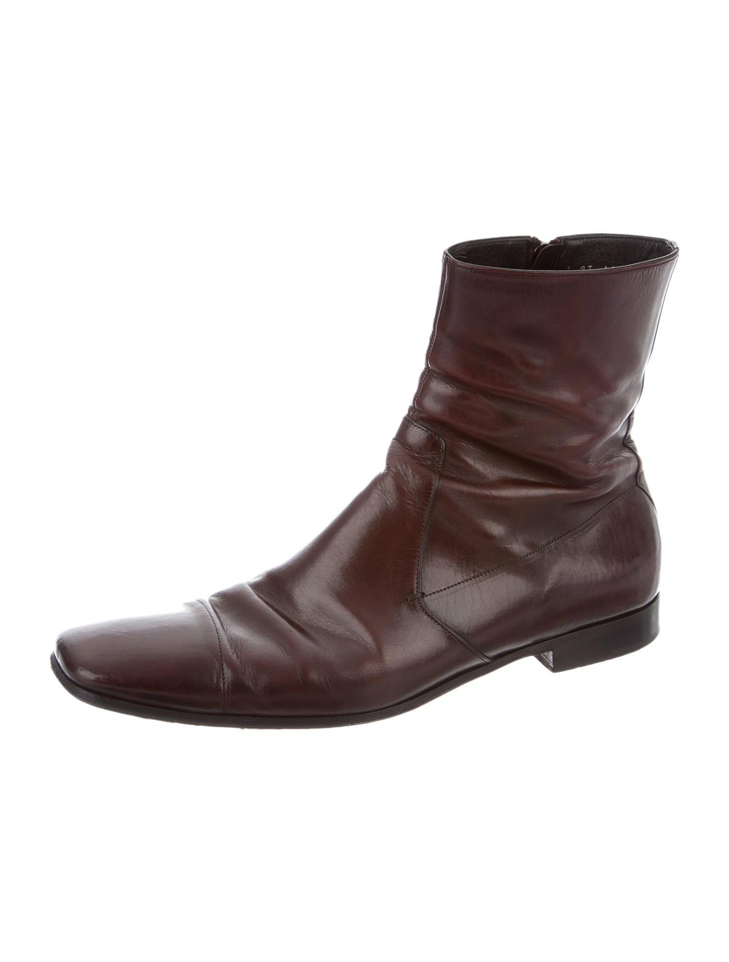 prada leather square toe boots shoes pra86880 the