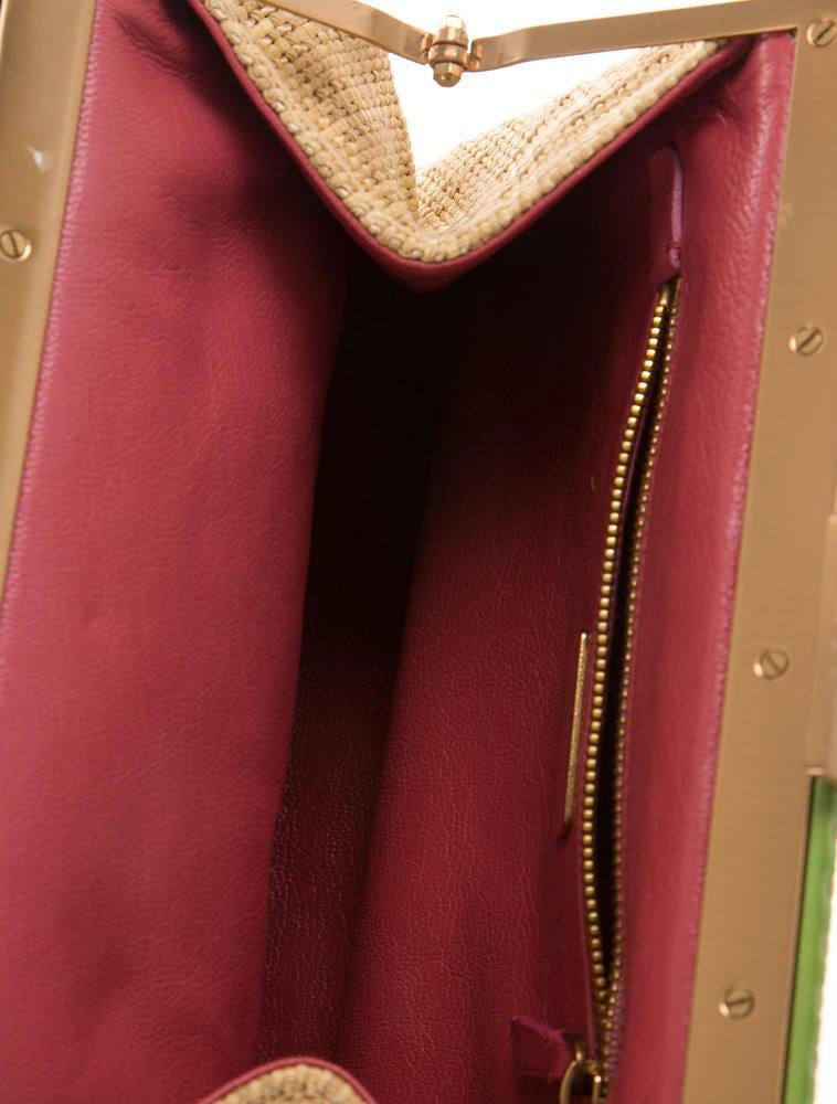 prada messager bag - Prada Alligator & Straw Shoulder Bag - Handbags - PRA87068 | The ...