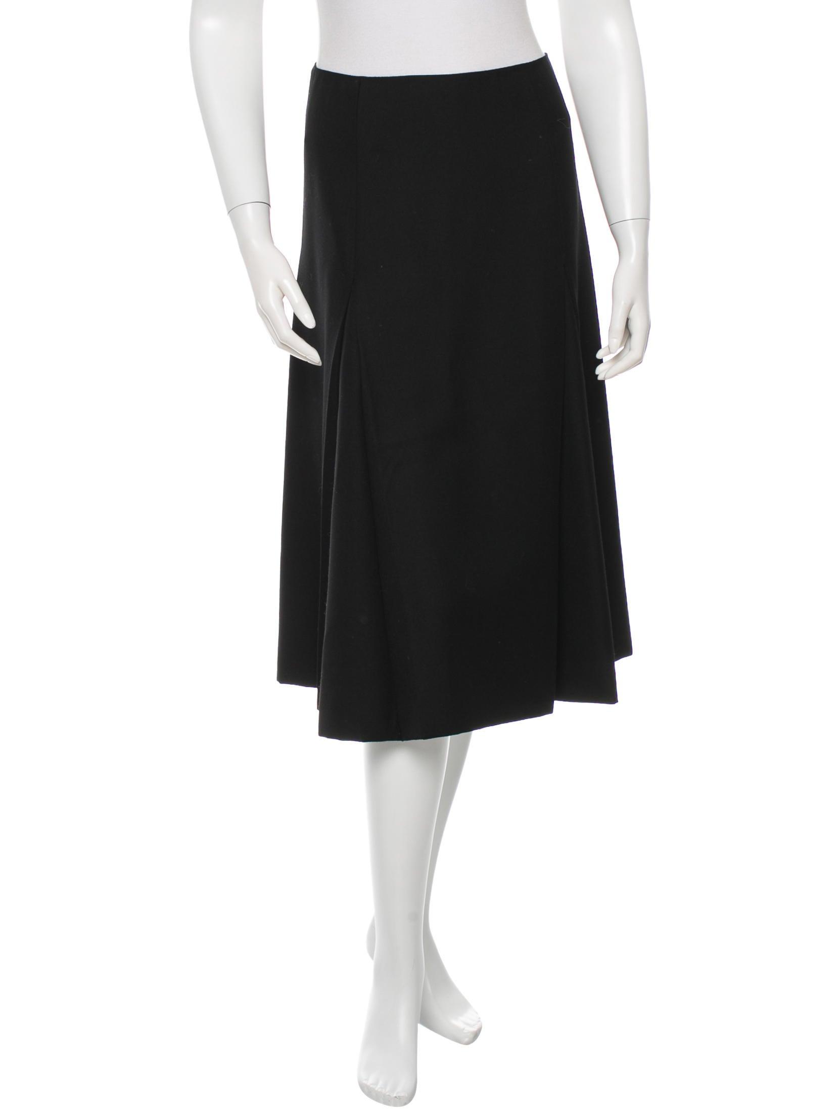 prada wool a line skirt clothing pra88006 the realreal
