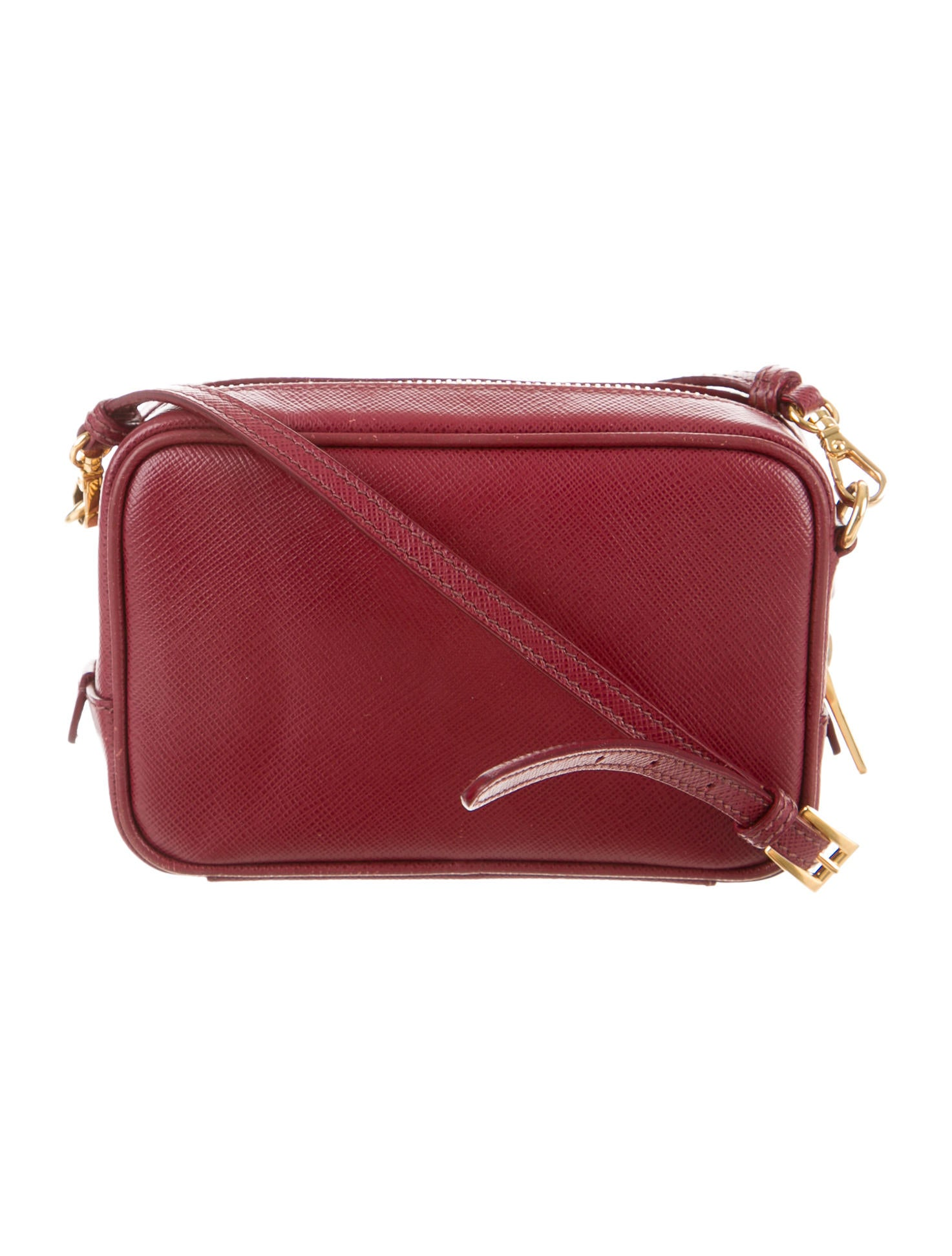 prada saffiano mini zip crossbody bag handbags
