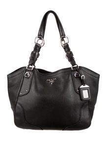 prada quilted tesusto shoulder bag