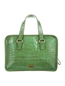 prada clutch bags sale - Prada Madras Cerniera Small Doctor Bag - Handbags - PRA83032 | The ...