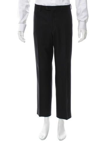 Prada Wool Flat Front Pants