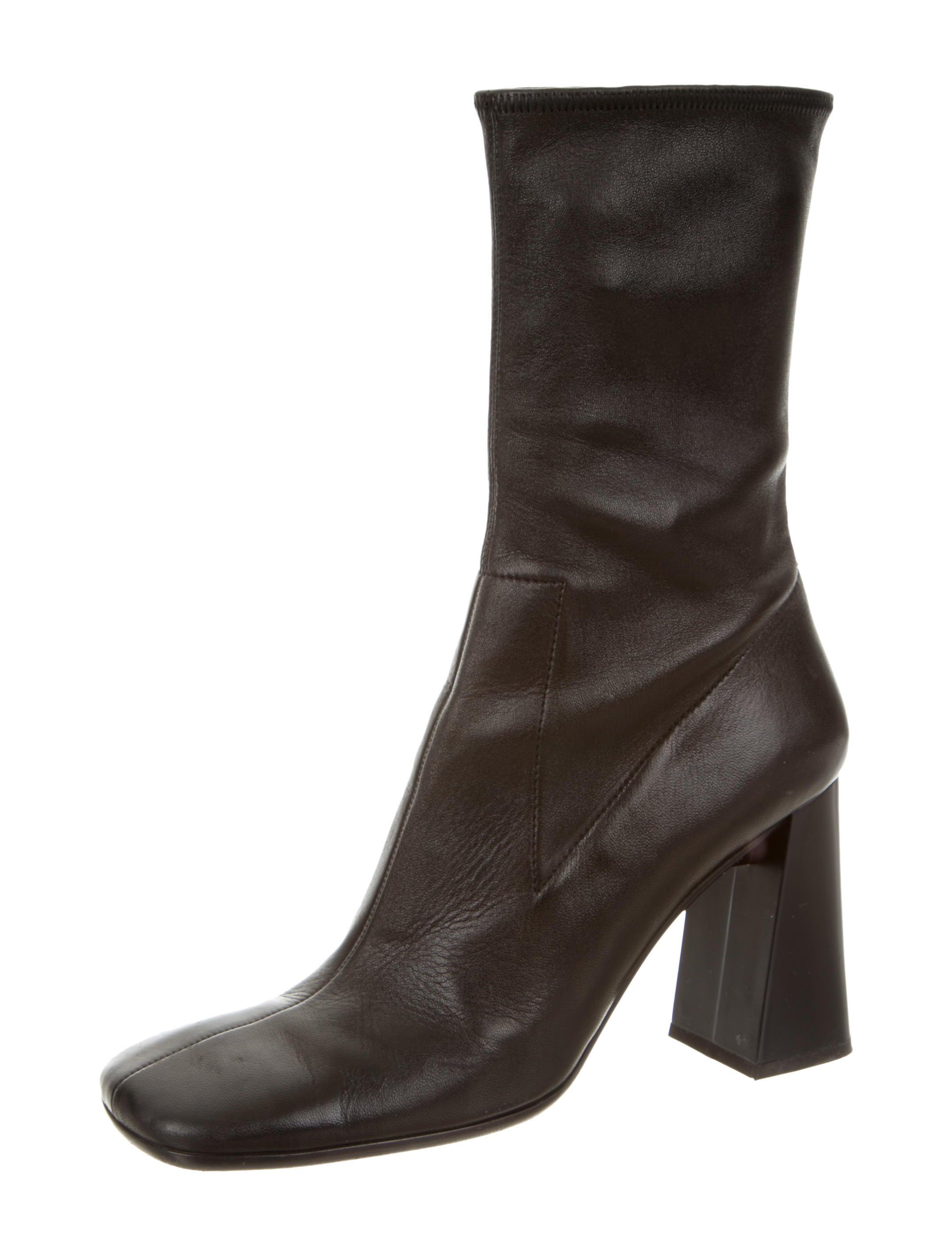 prada leather square toe ankle boots shoes pra92397