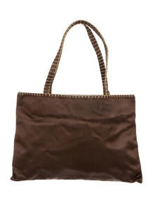 prda bags - Prada Crystal Embellished Tessuto Handle Bag - Handbags - PRA85004 ...
