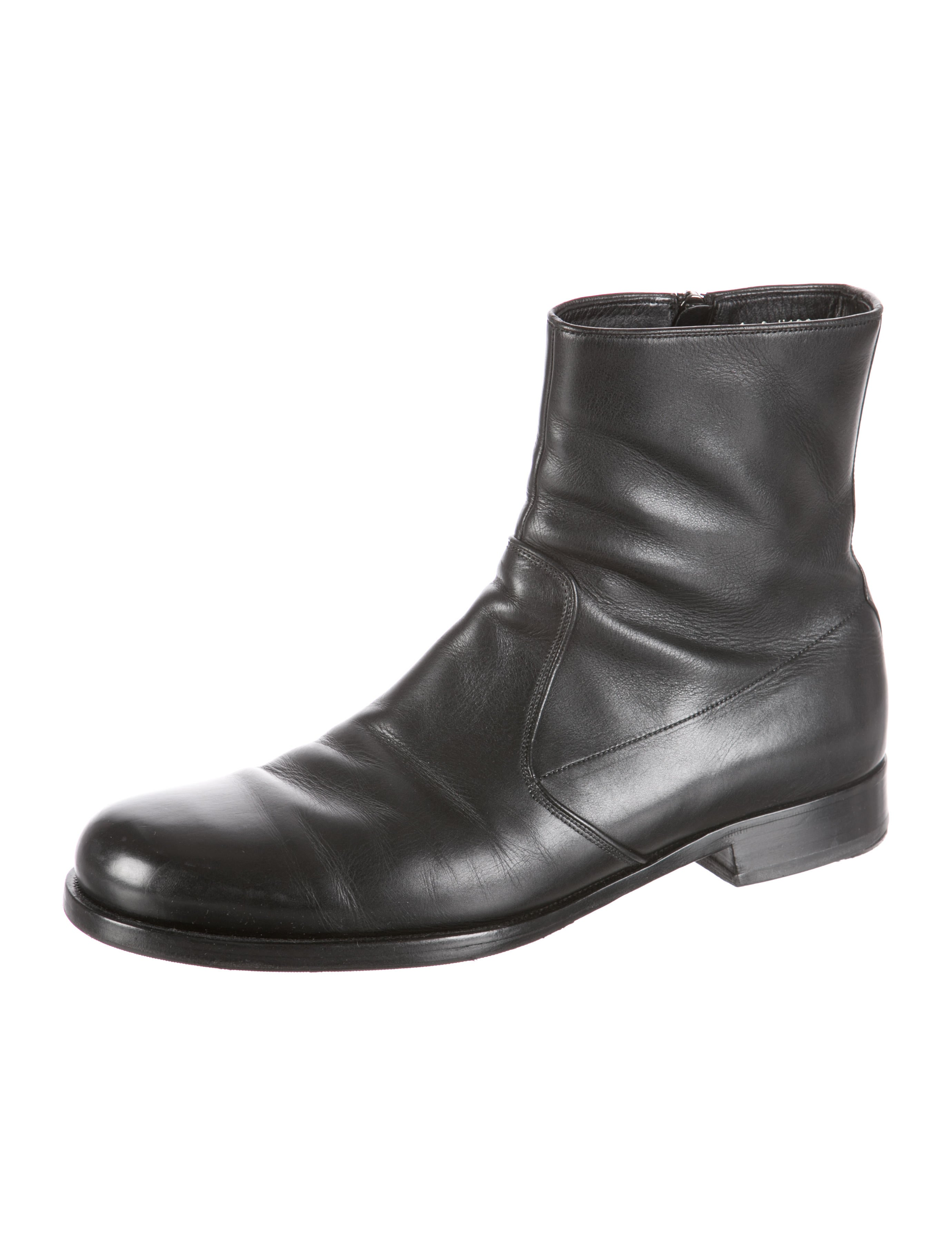 prada leather ankle boots mens shoes pra94567 the