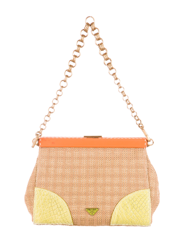 prada frame bag bright yellow