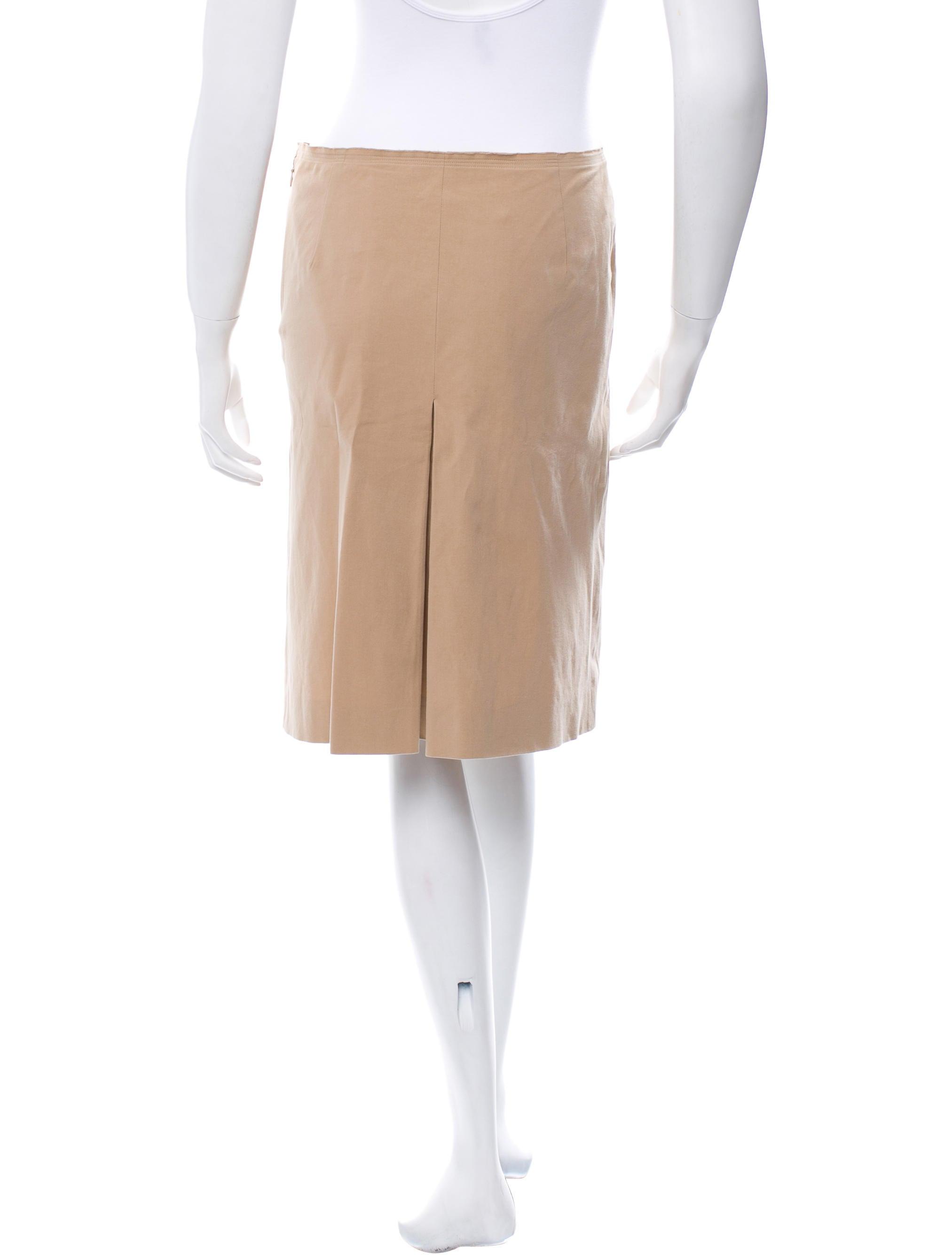 prada a line knee length skirt skirts pra98605 the
