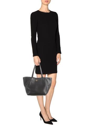 prada black leather wallet - Prada Handbags | The RealReal