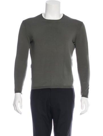 Prada Long Sleeve Crew Neck Sweater None