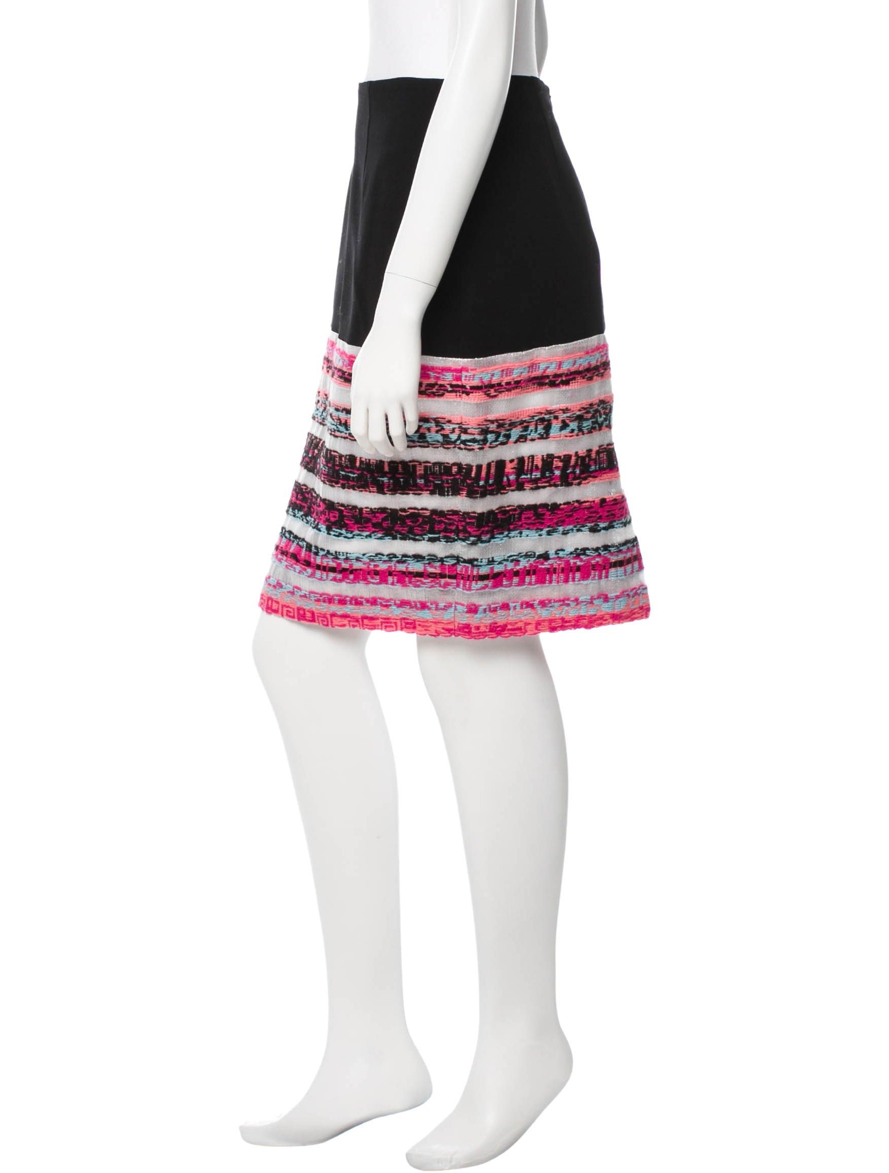 prabal gurung patterned pencil skirt skirts prb20631
