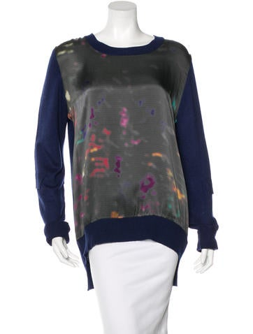 Preen Printed Long Sleeve Sweater None