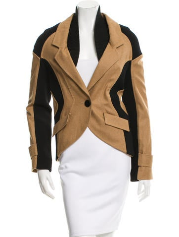 Proenza Schouler Fitted Single-Button Jacket None