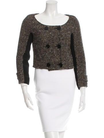 Proenza Schouler Cropped Tweed Jacket None