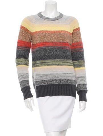 Proenza Schouler Long Sleeve Colorbock Sweater None