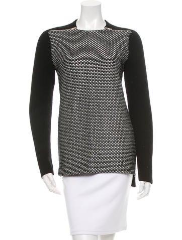 Proenza Schouler Metallic Zipper Sweater None