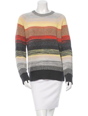 Proenza Schouler Striped Rib Knit-Trimmed Sweater None