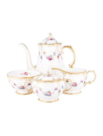Royal Crown Derby Royal Antoinette Coffee Service None