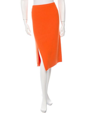 Reed Krakoff Rib Knit Midi Skirt None