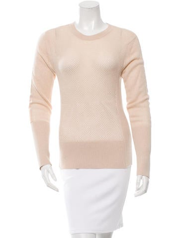 Reed Krakoff Leather-Accented Cashmere Sweater None