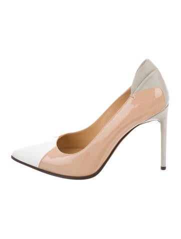 Reed Krakoff Patent Leather Pointed-Toe Pumps None
