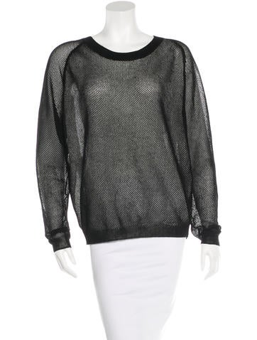 Reed Krakoff Open Knit Crew Neck Top None