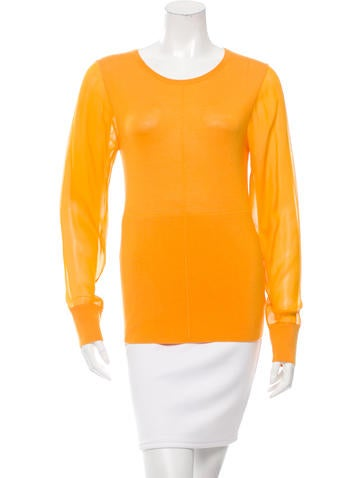 Reed Krakoff Cashmere-Blend Knit Top None