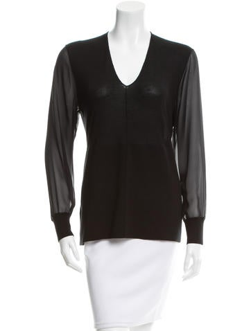 Reed Krakoff Cashmere & Silk-Blend Top None