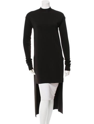 Rick Owens Wool Mock Neck Sweater None