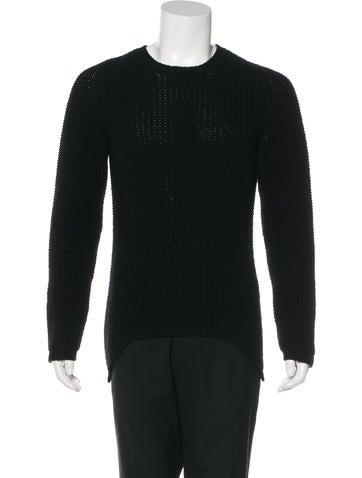 Rick Owens 2015 Rib Knit Sweater None