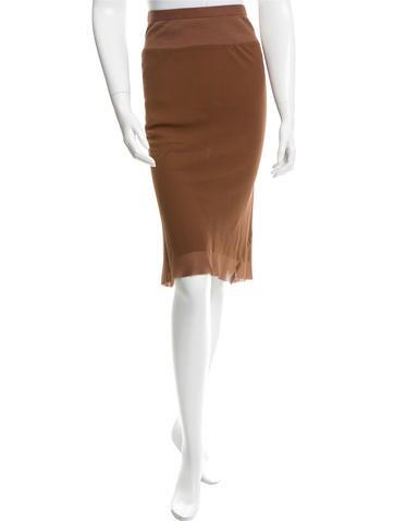 Rick Owens Spring 2016 Silk Skirt w/ Tags None