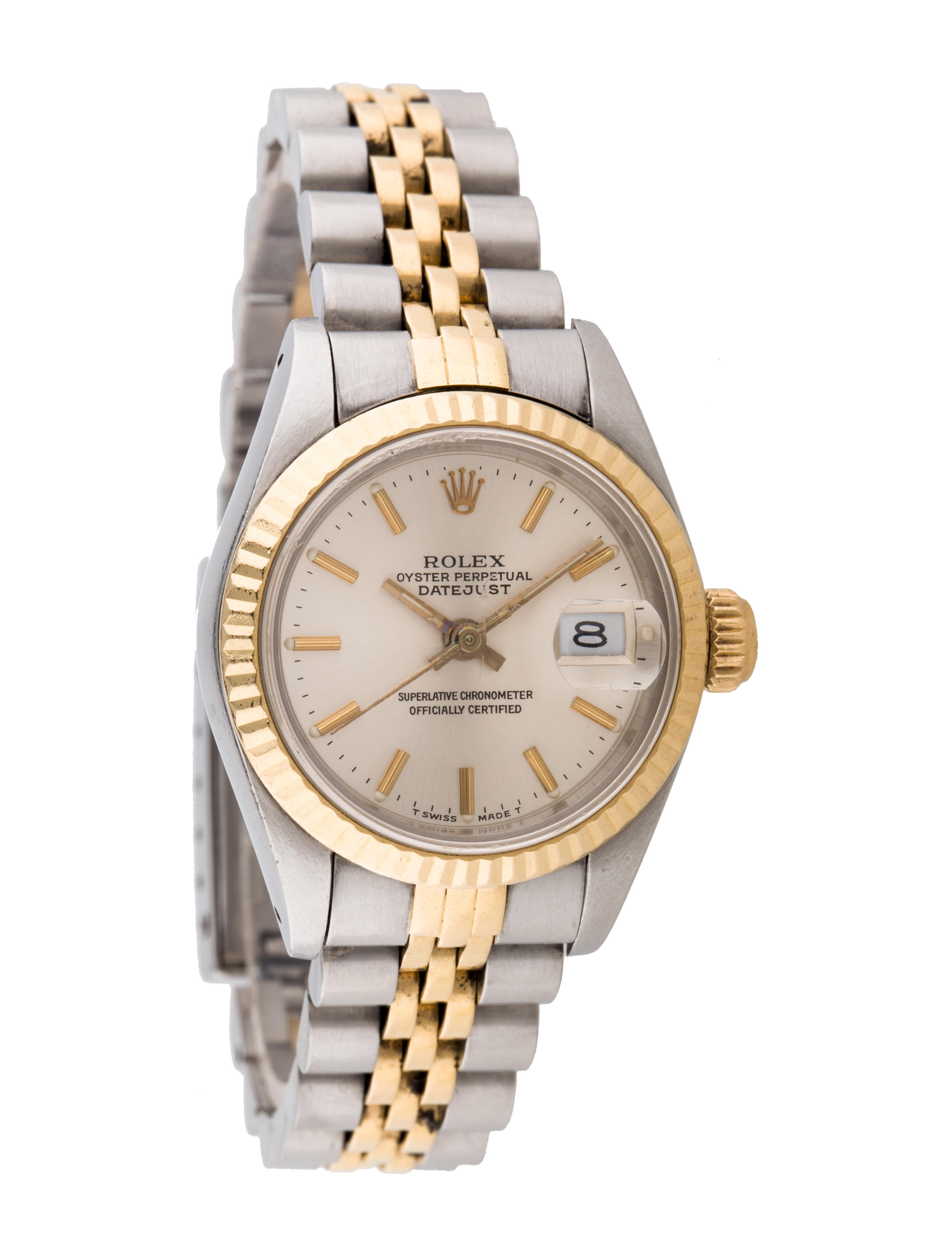 Rolex oyster perpetual lady datejust 69173 watch bracelet rlx20883 the realreal for Oyster watches