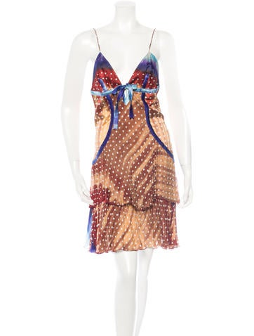 Roberto Cavalli Beaded Silk Dress