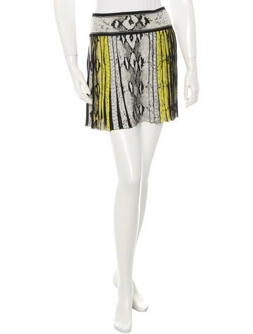 Roberto Cavalli Pleated Mini Skirt