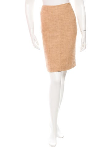 Roberto Cavalli Tweed Pencil Skirt