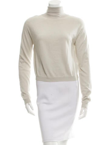 Rochas Turtleneck Cropped Sweater None