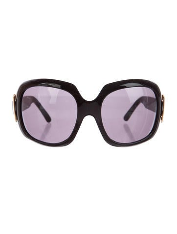 Roger Vivier Buckle-Accented Oversize Sunglasses None