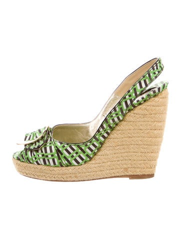 Roger Vivier Cordella Espadrille Wedge Sandals None