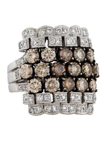 18K Brown Diamond Cocktail Ring