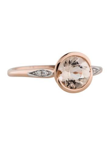 Round Morganite Ring